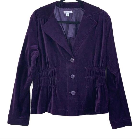 Joan Rivers purple Blazer/Jacket size large